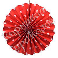 Веерный круг (картон) 30см (красный 0007)