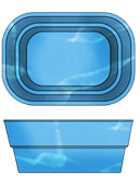 """Стационарный стекловолоконный усиленный бассейн """"Компакт"""" 4,0х2,8 глубиной 1,55м."""