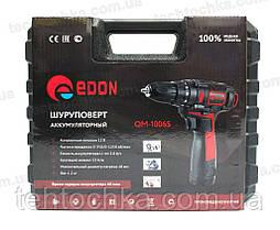 Аккумуляторный шуруповерт EDON - CF - 1006S, фото 3