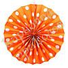 Веерный круг (картон) 30см (оранжевый 0011)