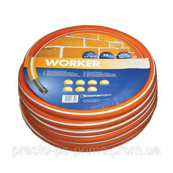 Шланг садовый Tecnotubi Worker для полива диаметр 3/4 дюйма, длина 50 м (WR 3/4 50)
