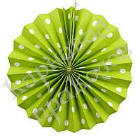 Веерный круг (картон) 30см (салатовый 0013), фото 1