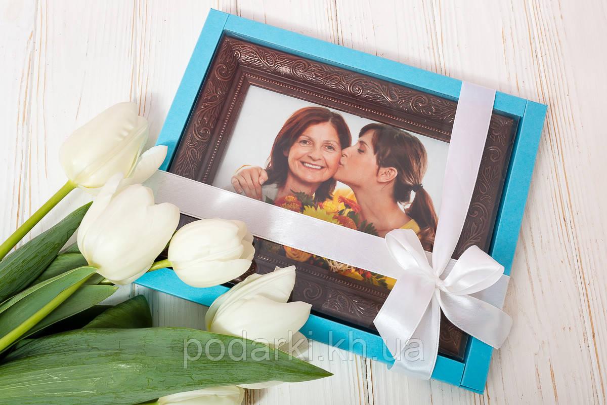 Шоколадный портрет в подарок для мамы