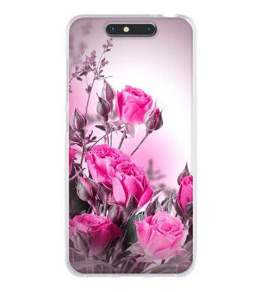 Чехол с картинкой tpu бампер для ZTE Blade V8 Розовые розы