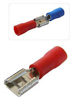 Коннектор FDD1-110 2,8x0,5/0,8 плоский с частичной изоляцией «мама» (упаковка 100 шт.), АСКО-УКРЕМ