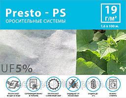 Агроволокно белое Presto-PS (спанбонд) плотность 19 г/м, ширина 1,6 м, длинна 100 м (19G/M 16 100)