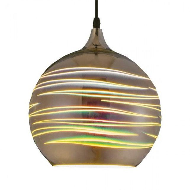 """Світильник підвісний """"LASER"""" Е27 3D-ефект (круглий)"""