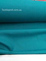 Льняная костюмная ткань, темно -бирюзового цвета, фото 1
