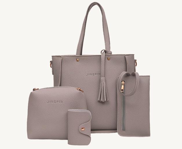 Женские сумки в наборе цвет серый