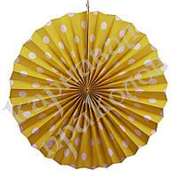 Веерный круг (картон) 40см (желтый 0019), фото 1