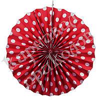 Веерный круг (картон) 40см (красный 0007), фото 1