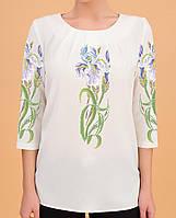 Заготовка вишиванки жіночої сорочки та блузи для вишивки бісером Бисерок  «Іриси 85» (Б b99e3c64afe51