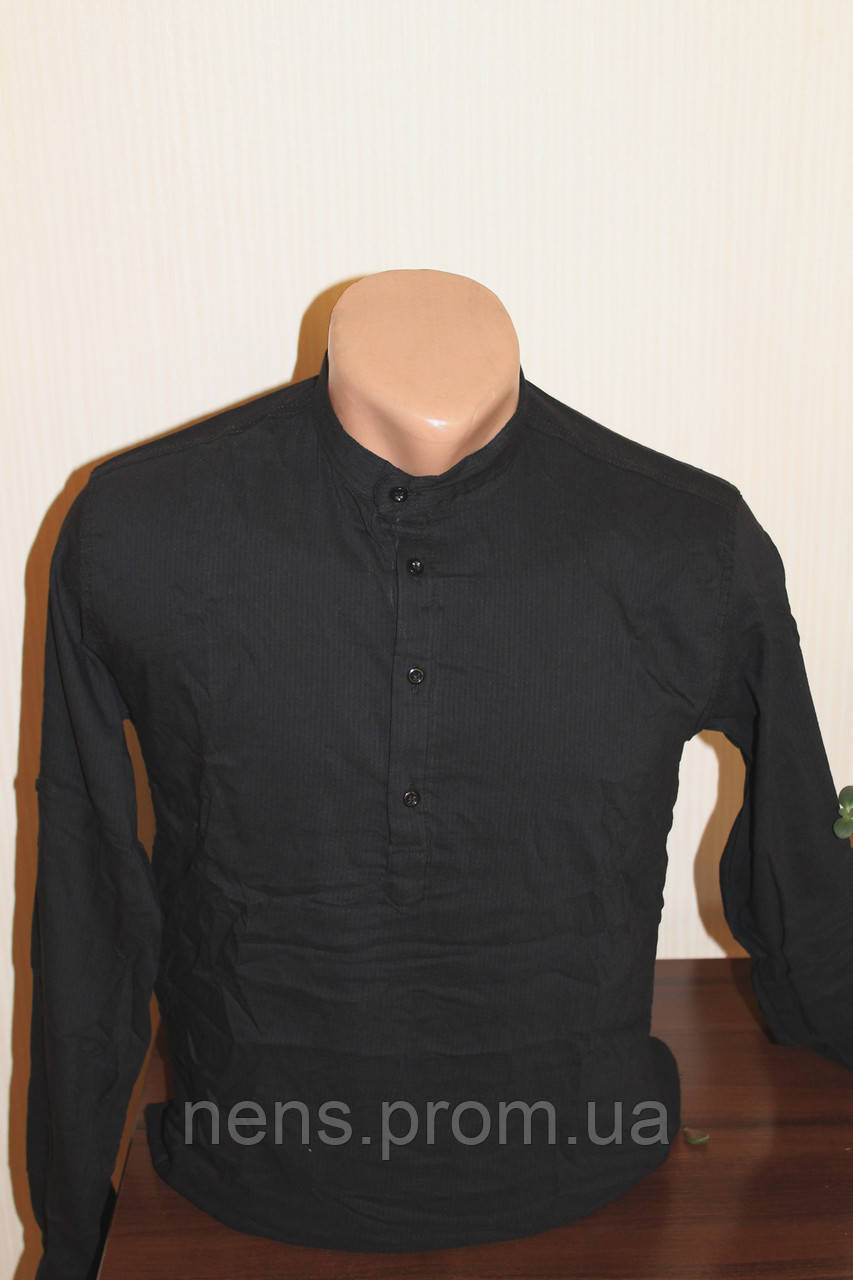Мужская рубашка Sayfa однотонная стойка - Мужские рубашки 9101decc1e23c