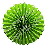 Веерный круг (картон) 40см (салатовый 0013), фото 1