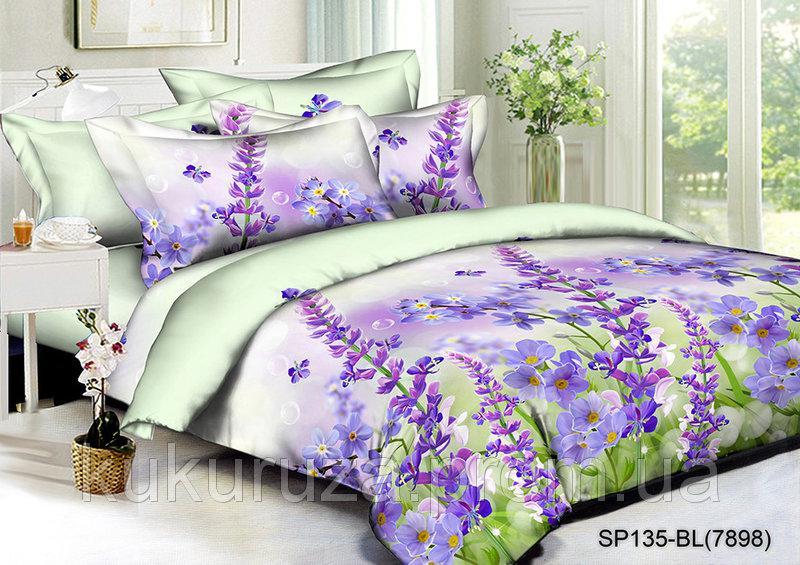 Семейный  комплект постельного белья из полисатина Виолетта