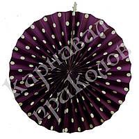 Веерный круг (картон) 40см (фиолетовый 0021), фото 1