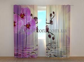 """Фото шторы """"Сиреневая орхидея"""" 250 х 260 см"""