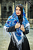 Павлопосадский белый платок Мгновение, фото 3