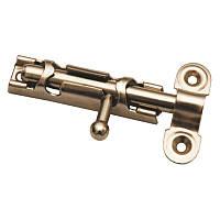 Шпингалет дверной ЗТ 80мм (цинковое покрытие)