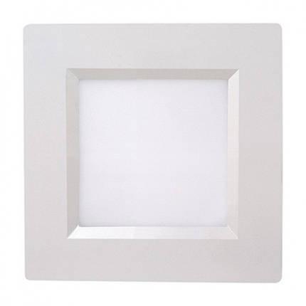 Светодиодный светильник Horoz (HL684L) 6W 6000K квадрат.белый (потолочный) Код.56280, фото 2