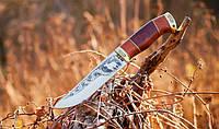 Нож охотничий Олень ручной работы, с кожаным чехлом в комплекте, фото 1
