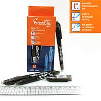 Ручка гелевая стираемая черн. 0,5мм (исчезает при нагрев) (увелич.длин.письма)
