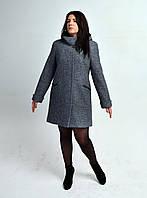 Пальто женское кашемировое Л-570 серый