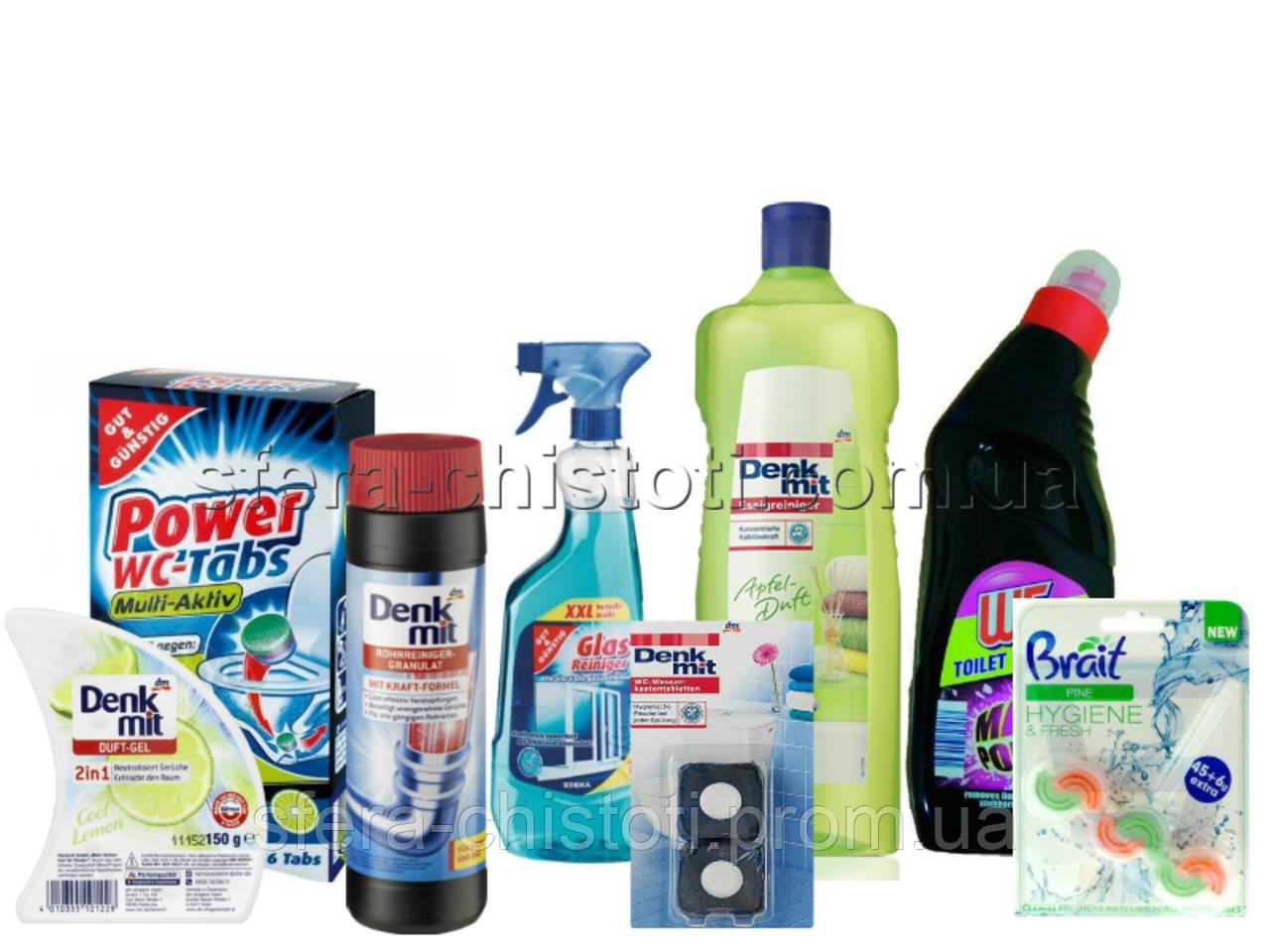 Набор средств для уборки ванной и туалета