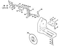 Поворотный суппорт для пильных полотен мотокос и кусторезов (52037502800)