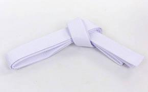 Пояс для кимоно MATSA белый MA-0040-W(3) (хлопок, р-р 3, l-260см)