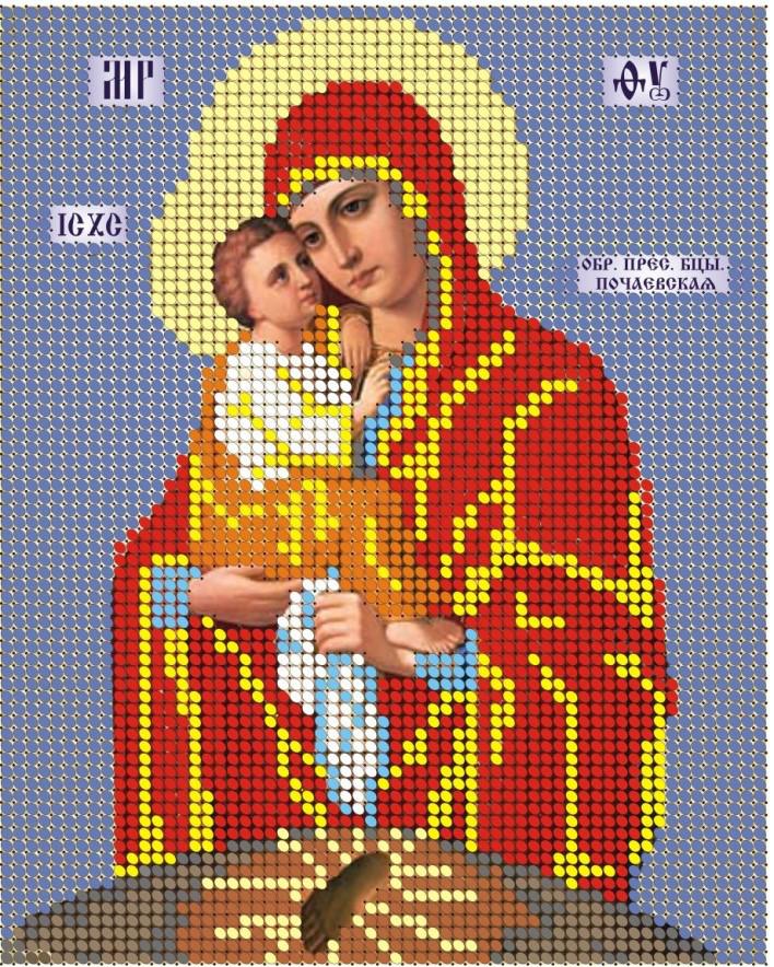 Схема для вишивки та вишивання бісером Бисерок «МБ Почаевская» (A5) 15x18 (ЧВ-2029)
