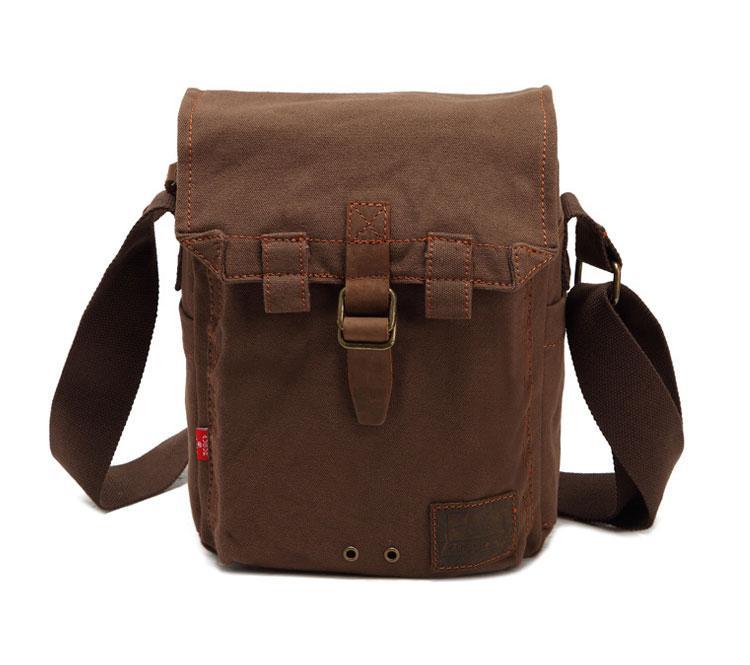 Мужская брезентовая сумка через плечо Augur