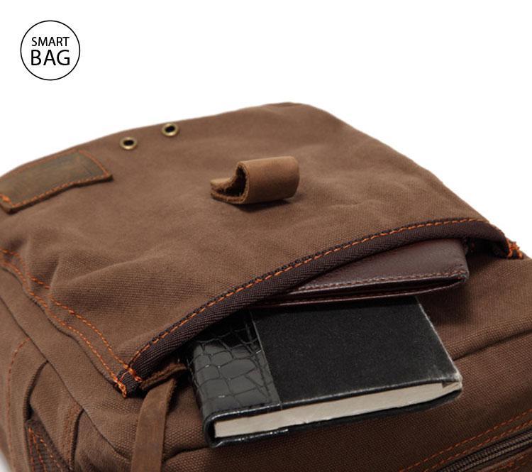 c8ad0743d2f1 Мужская брезентовая сумка через плечо Augur   цена. Купить в ...