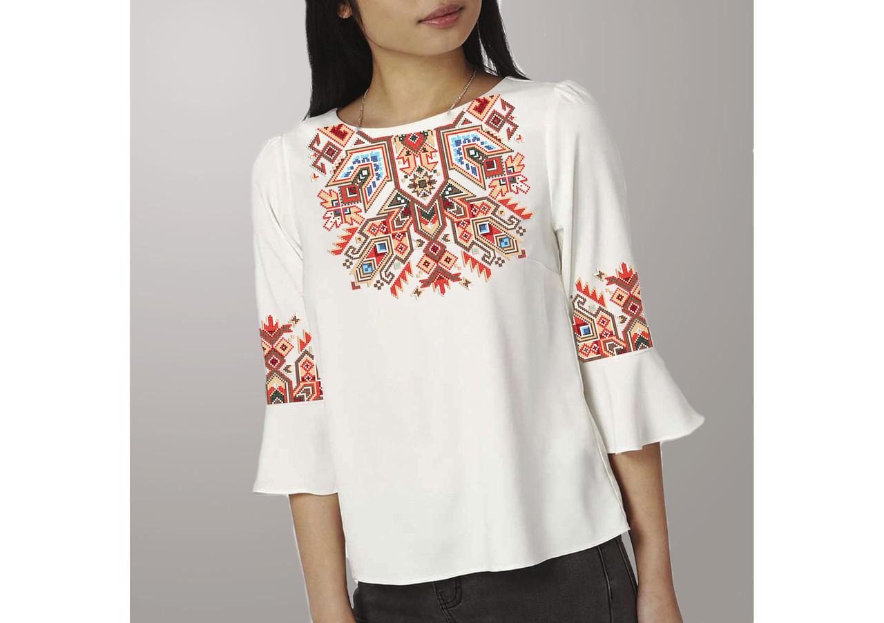 Заготовка вишиванки жіночої сорочки та блузи для вишивки бісером Бисерок «Традиція» (Б-168 )