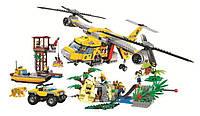 """Конструктор LEGO, Bela  """"Вертолёт для доставки грузов в джунгли"""" 1298 дет."""