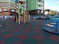 Резиновая плитка для детского сада, фото 1