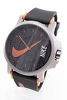 Наручные спортивные часы Nike, Найк черные с оранжевым