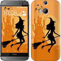 "Чехол на HTC One M8 dual sim Ведьма на метле ""1184c-55-328"""