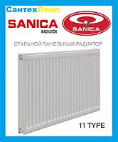 Стальной радиатор Sanica 11k 500*500 б.п