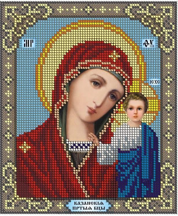 Схема для вишивки та вишивання бісером Бисерок ікона «МБ Казанська» (A5) 15x18 (ЧВ-2101(10))