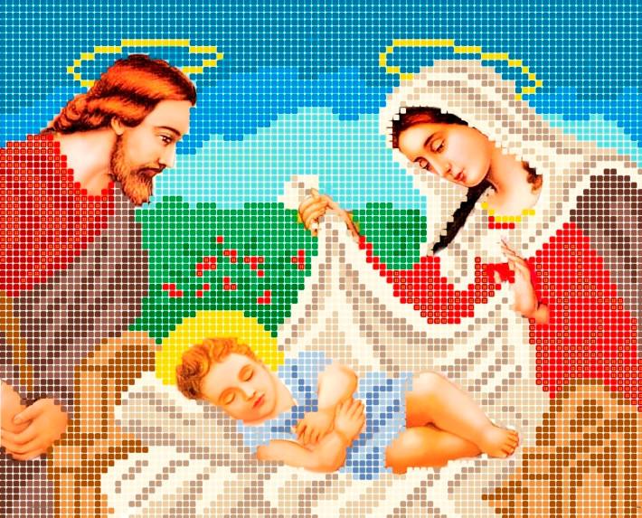 Схема для вишивки та вишивання бісером Бисерок «Святое семейство» (A5) 15x18 (ЧВ-2052(10))