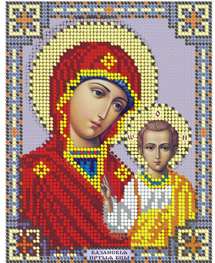 Схема для вишивки та вишивання бісером Бисерок ікона «МБ Казанська» (A5) 15x18 (ЧВ-2051)