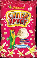 Супер ХРУСТ подушечки кукурудзяні з начинкою зі смаком ванільного морозива (50г/10шт.)