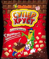 Супер ХРУСТ подушечки кукурудзяні з начинкою зі смаком шоколаду (50г/10шт.)