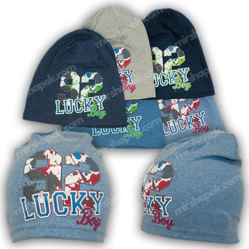 шапка детская трикотажная для мальчиков