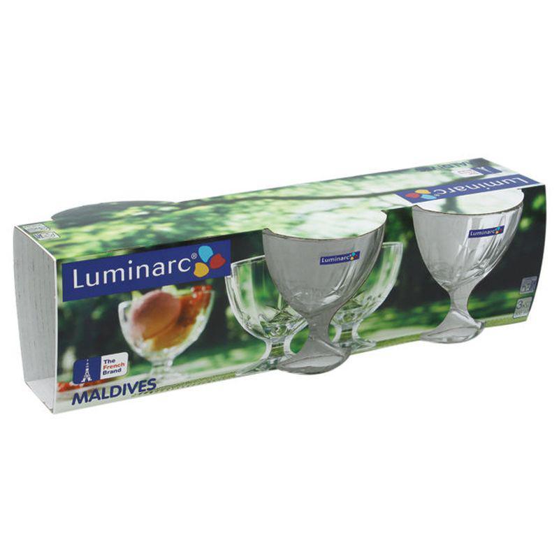 Набор креманок для мороженого 250 мл 3 шт Luminarc Maldives (Н5127)