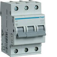Модульный автоматический выключатель 3P 6кА С-13A 3М Hager
