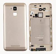 Задняя крышка для Asus Zenfone 3 Max (ZC520TL), золотистая, оригинал