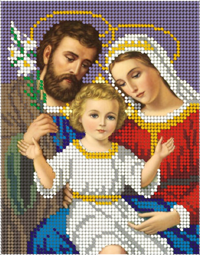 Схема для вишивки та вишивання бісером Бисерок «Святое семейство» (A5) 15x18 (ЧВ-2039)