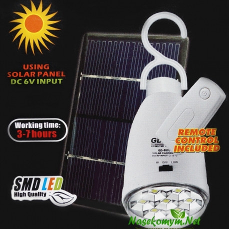 Лампа аккумуляторная на солнечной батарее с пультом GD-LITE GD-5007s , фото 1